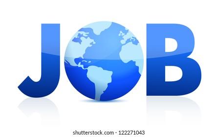 Job Concept illustration design over a white background