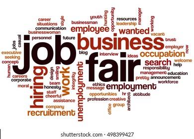 Job fair word cloud concept