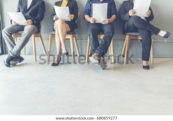Job Hiring Interview Candidate prepare Questions and Best Answers for Interviewing with Human Resource  HR Manager. Jobs Interview Confident Candidate in Office.  Hiring Manager have qualifications