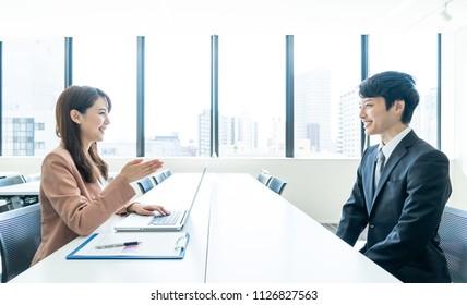 Job interview concept.
