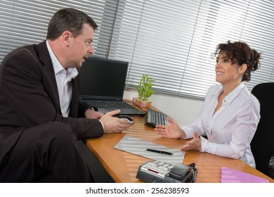 Job interview or meeting situation