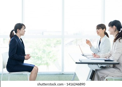 Job interview in office concept.