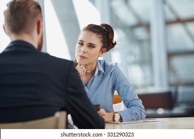 Job interview recruiter listen to candidate
