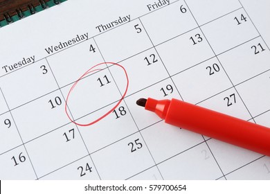 Job interview reminder on calendar