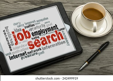job search concept word cloud