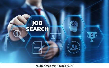 Job Search Human Resources Recruitment Career Business Internet Technology Concept.