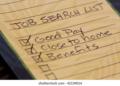 Job search list.