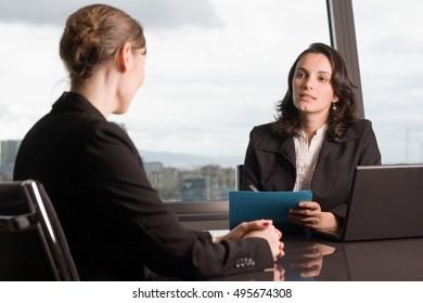 Job talk in business office