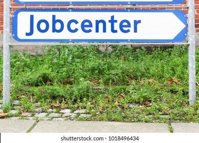 Jobcenter roadsign in Denmark