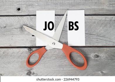 Jobs cutting concept
