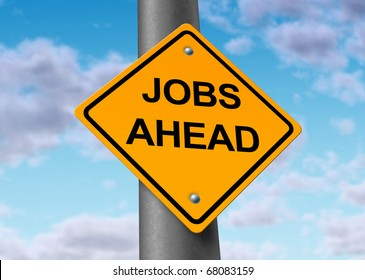 jobs employment opportunity ahead road street sign