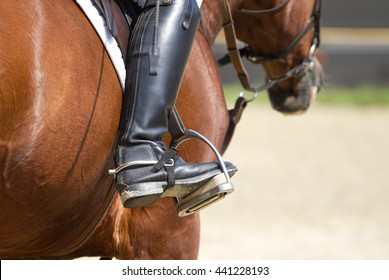 Jockey Riding Boots In The Stirrup
