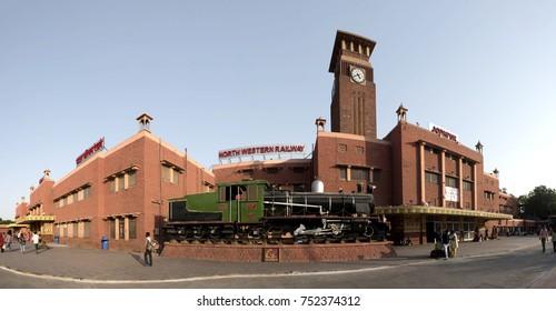 Jodhpur / India 29 October 2017 panoramic view of Jodhpur Junction railway station  at Jodhpur Rajasthan  India