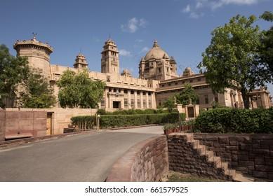 Jodhpur / India 8 June 2017  Umaid Bhawan Palace and Museum at Jodhpur city Rajasthan Indian