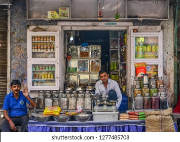 Jodhpur, India - Nov 6, 2017. Street vendors in Jodhpur, India. Jodhpur is the second largest city in state of Rajasthan.