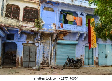 Jodhpur, India - Nov 6, 2017. Old buildings in Jodhpur, India. Jodhpur is the second largest city in state of Rajasthan.