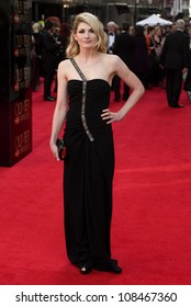 Jodie Whittaker arrives for the Olivier Awards 2012 at the Royal Opera House, Covent Garden, London. 15/04/2012 Picture by: Simon Burchell / Featureflash