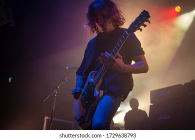 Joe Hoare Guitarist from Orange Goblin, live at O2 Ritz Manchester Uk, 30th October 2018
