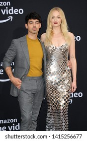Joe Jonas and Sophie Turner at the premiere of Amazon Prime Video's 'Chasing Happiness' held at the Regency Bruin Theatre in Westwood, USA on June 3, 2019.