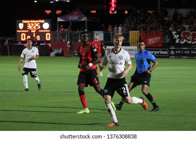 Joel Rydstrand midfielder for Tacoma Defiance at Phoenix Rising Soccer Complex April 20,2019.