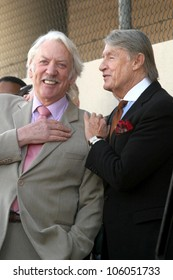 Joel Schumacher and Donald Sutherland   at the Ceremony Honoring Kiefer Sutherland with the 2,377th Star on the Hollywood Walk of Fame. Hollywood Boulevard, Hollywood, CA. 12-09-08