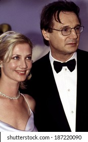 Joely Richardson, Liam Neeson at the Academy Awards, March, 1999