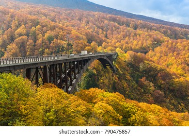 Jogakura Bridge at Aomori prefevture in autumn season
