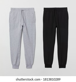 Jogger black and heather grey color isolated on background