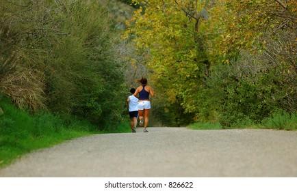 jogging pair