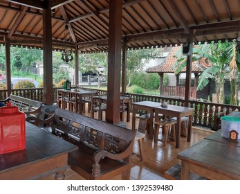 Jogja, Pawon Candi Resto / Indonesia, 24 April 2019 : Joglo Javanese architecture