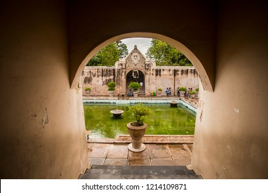 Jogjakarta, Indonesia  09/2017  : Taman Sari, a heritage part of Jogja Royal Palace,Kraton Jogja, that used as a bathroom for the king and royal family, located in Jogjakarta, Indonesia.