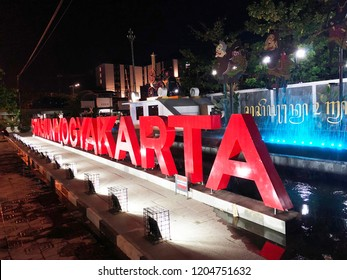 "Jogjakarta, INDONESIA - August 13, 2018: ""Stasiun Jogjakarta"" also known as Tugu Station - is a large class train station located in Yogyakarta City."