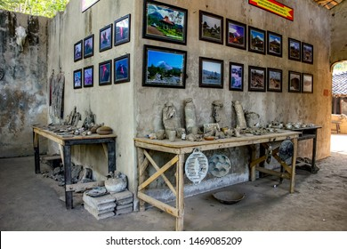 Jogjakarta, Indonesia: July, 1st 2019: Museum Displays/Exhibits of the Devastating Artifacts from Mount Merapi Eruption in Java