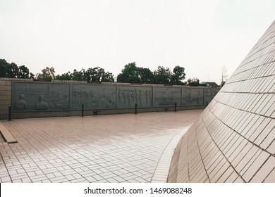Jogjakarta, Indonesia: July 1st 2019: Monjali / Monumen Jogja Kembali, a Historical Building in a Pyramid Shape