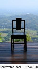 Jogjakarta, Indonesia - June 19, 2018: Chair at pinery Mangunan . Illustration of power. Editorial illustrative.