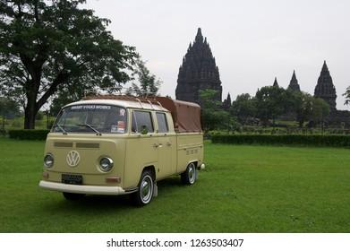 Jogjakarta / Indonesia - March 14, 2012 : Volkswagen Kombi T2 double cabin.