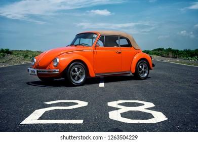Jogjakarta / Indonesia - March 14, 2012 : Volkswagen Beetle 1303 Cabriolet