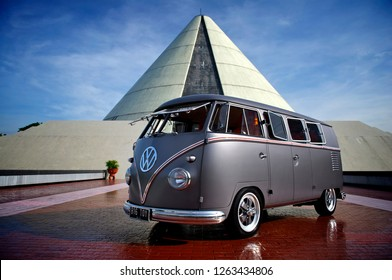 Jogjakarta / Indonesia - November 30, 2011 : Volkswagen bus  T1 year 1958