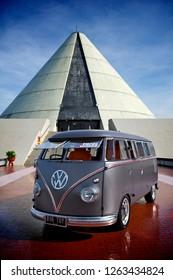 Jogjakarta / Indonesia - November 30, 2011 : Volkswagen bus  T1 year 1958