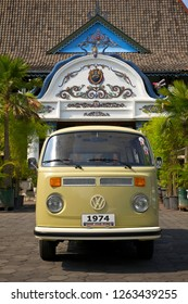 Jogjakarta / Indonesia - November 30, 2011 : Volkswagen bus  T2 year 1974