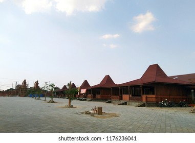Joglo complex, tradisional house from Central Java, Indonesia