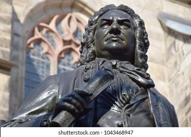 Johann Sebastian Bach monument in Leipzig