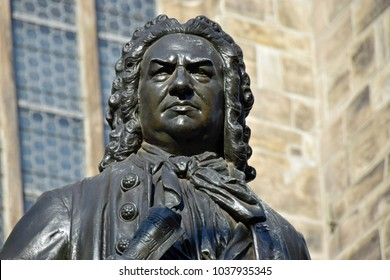 Johann Sebastian Bach Statue in front of St Thomas's Church, Leipzig