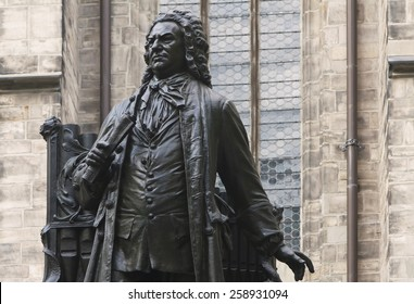 Johann Sebastian Bach Statue in front of St Thomas's Church, Leipzig. He was one of the most famous organist. The artist of the sculpture was Carl Seffner (1861- 1932). He created this in 1908.