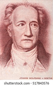 Johann Wolfgang von Goethe portrait from old German money
