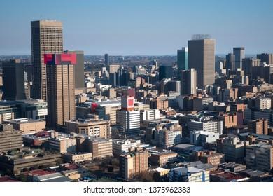 Johannesburg CBD seen from the east