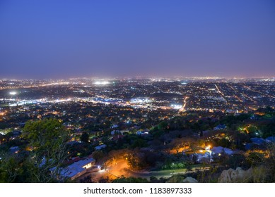 Johannesburg Cityscape at Night, South Africa on 19th September 2018