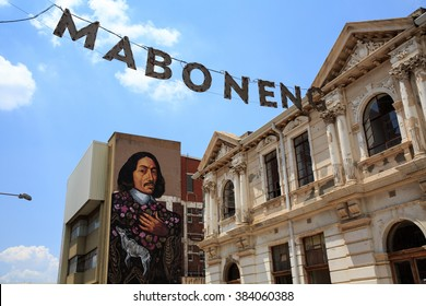 JOHANNESBURG, FEB 14: The Maboneng Precinct area  on February 14, 2016 in Johannesburg. One of South Africa's hippest urban enclaves and an incredible example of urban regeneration