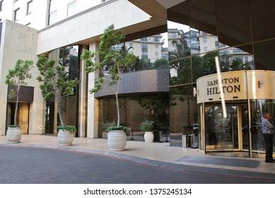 Johannesburg Gauteng South Africa 10302010 Sandton Hilton entrance Hotel