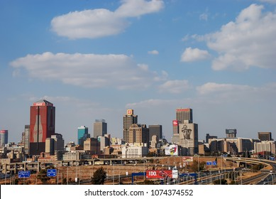 Johannesburg, Gauteng / South Africa - August 2013: The skyline of downtown Joburg